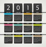 Calendar 2015 stock illustration