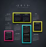 Calendar 2015 Year vector illustration