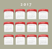 2017 calendar Royalty Free Stock Photos