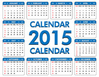 Calendar for the year of 2015 Stock Photos