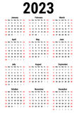 Calendar for 2023 Vector Illustration