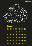 Calendar for 2018 year. Year of the yellow dog. Vector illustration shows Calendar for 2018 year. Year of the yellow dog Stock Image