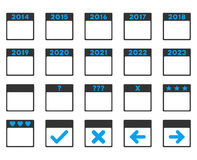 Calendar Years Icon. Calendar Years vector icon. Style is bicolor flat symbols, blue and gray colors, rounded angles, white background Royalty Free Stock Image