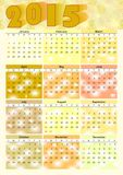 Calendar 2015 in yellow design Stock Photo