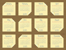 Calendar for 2015 Royalty Free Stock Photos