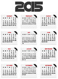 2015 calendar. For your design. Week starts on Sunday Royalty Free Illustration