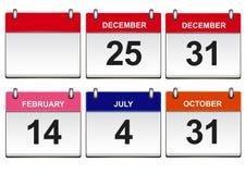 Calendari Fotografie Stock Libere da Diritti