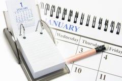 Calendari Fotografia Stock Libera da Diritti