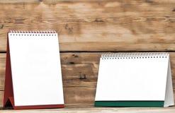Calendari da scrivania in bianco Immagini Stock Libere da Diritti