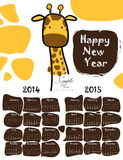 Calendari 2014 e 2015 Immagine Stock Libera da Diritti