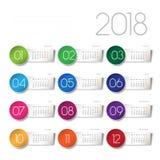 calendario 2018 Fotografía de archivo libre de regalías