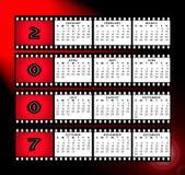 Calendario 2007 con el marco de la tira de la película Fotografía de archivo libre de regalías