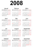 calendario 2008 fotografia stock