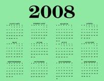 Calendario 2008 Fotografia Stock Libera da Diritti
