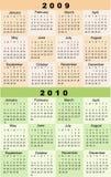Calendario, 2009, 2010 Fotografie Stock