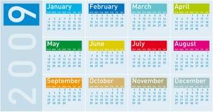 Calendario 2009 Fotos de archivo