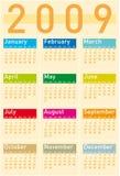 Calendario 2009 stock de ilustración