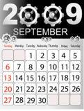 Calendario 2009 Immagine Stock Libera da Diritti
