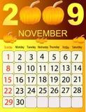 Calendario 2009 Fotografia Stock