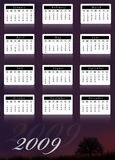 Calendario 2009 royalty illustrazione gratis