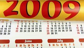 Calendario 2009 Fotografía de archivo libre de regalías