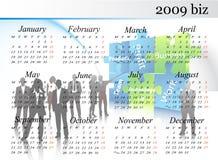 calendario 2009 illustrazione di stock