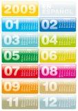 Calendario 2009 en español Fotos de archivo