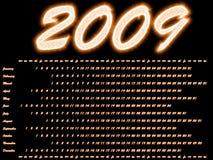 calendario 2009 nello stile scintillante Fotografia Stock Libera da Diritti