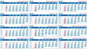 Calendario 2010 libre illustration