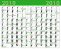 Calendario 2010 Foto de archivo libre de regalías