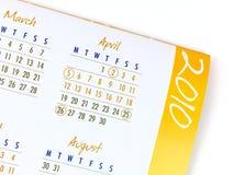 Calendario 2010 Imágenes de archivo libres de regalías