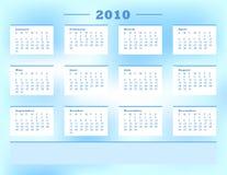 Calendario 2010 Immagini Stock