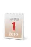 Calendario 2010 de escritorio Foto de archivo