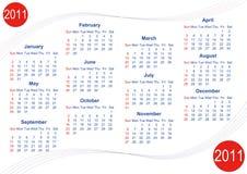 Calendario 2011 Foto de archivo libre de regalías