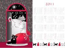 Calendario 2011 Foto de archivo