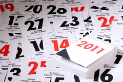 Calendario 2011 Immagine Stock