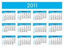 Calendario 2011 Fotografia Stock Libera da Diritti