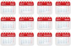 Calendario 2011 Fotografía de archivo libre de regalías