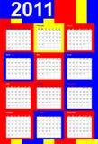 Calendario 2011, colori primari illustrazione di stock