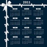 Calendario 2011 con los arqueamientos Fotografía de archivo