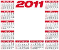 Calendario 2011 del vector Foto de archivo