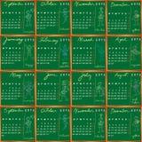 Calendario 2012 2013 del banco Fotografia Stock Libera da Diritti