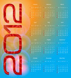 Calendario 2012 Immagini Stock Libere da Diritti