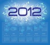Calendario 2012 Fotografia Stock Libera da Diritti