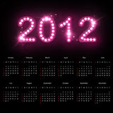 Calendario 2012 Fotografia Stock