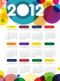 Calendario 2012 Fotografía de archivo