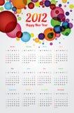 Calendario 2012 Immagini Stock