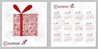 Calendario 2012 Imagenes de archivo