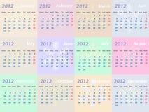 Calendario 2012 años Imagen de archivo