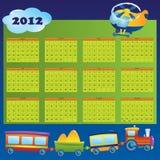 Calendario 2012 anni per i bambini Fotografia Stock Libera da Diritti